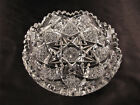 Signed Hawkes ABP Brilliant Cut Glass Low Bowl Hobstar  Cane Exc Cond Heavy