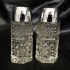 Vintage Anchor Hocking Clear Wexford Salt and Pepper Shaker Set