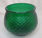 Vintage E O Brody Vase Glass Bowl Emerald Green Fish Scale G101 Cleveland OH USA