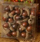 `Box of 40` Fake Acorns`Life Size`Crafting`Bowl Fillers`Crafting