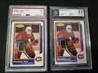 Lot 2 OPC Patrick Roy 1986-87 Rookie RC Graded Beckett & PSA Montreal Canadiens
