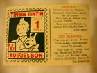 TIMBRE POINT TINTIN ancie et rare 1 point vert