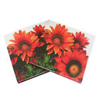 20pcs printed sunflower paper napkindisposable birthday party table d MI