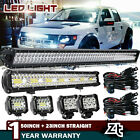 52Inch Curved LED Light Bar+22 inch+4 CREE PODS OFFROAD SUV 4WD UTV VS 50 42 20