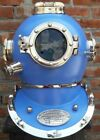 Boston Navy Mark V Divers Marine Vintage Helmet Blue Scuba 18 Sea Diving Helmet