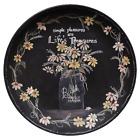 Primitive Country SIMPLE PLEASURES PLATE Farmhouse Flowers Spring Rustic Wooden
