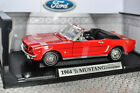 1964 1 2 Ford Mustang Convertible 118 Motormax Diecast NEW in FIERCE RED LOOK