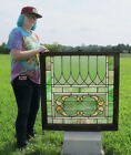 Crafts LG Stained Glass Window Panel Architectural Salvage #2 yqz