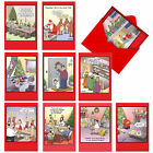 A1250 TIM WHYATTS TRACES OF NUTS Box Of 10 Christmas Cards Envelopes xmas