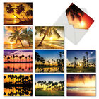 M6457OCB Palm Beaches 10 Assorted Blank All Occasion Note Cards Envelopes