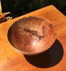 BEAUTIFUL ERIC REEVES HAND TURNED BURL WOOD BOWL / Signed