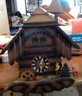 Cuckoo Clock Germany Tiroler Holzhacker'baub Chains 3 Weights