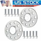 2Pc 10 mm thick 5lugs 5x100  5x112 14x15 Wheel Spacers for VW Beetle Cabrio