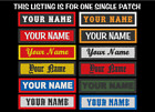 CUSTOM EMBROIDERED NAME TITLE EMBROIDERY PATCH 1 X 4 INCH BIKER TAG MADE IN USA