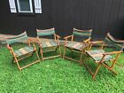 Vintage Canvas Beach-Camping Chairs-Folding