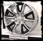 22 inch chrome black 2015 Chevy Silverado 1500 LTZ OE replica Tahoe rims 6x55