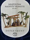Department 56 Neapolitan Nativity Vignette Set of 5 Vintage Christmas Decor