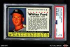 1961 Post Cereal #6 Whitey Ford Hand Cut Yankees PSA 6 - EX MT