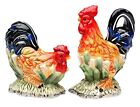 Country Rooster and Hen Farm Birds Salt and Pepper Shaker Set
