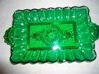 HOCKING  DEEP EMERALD GREEN DEPRESSION GLASS DISH PICKLES CANDY 7