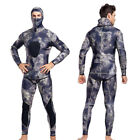 Mens Neoprene 3mm Full Body Warm Scuba Diving Suit Two piece Snorkeling Wetsuit