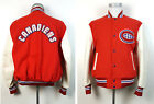VTG Montreal Canadiens L / M Letterman NHL Pro Leather Wool Jacket Shain Canada