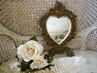 RARE BEAUTIFUL LARGE  OLD SHABBY BEVELED HEART MIRROR UNIQUE ***SO CHIC***