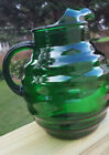 Anchor Hocking Forest Green 96-oz. Whirly Twirly Ball Pitcher Ice Lip NICE!