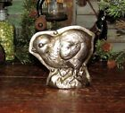 Primitive Antique Vtg Tin Style Easter Chick Chicken Silver Resin Chocolate Mold