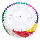 480 Pcs Dressmaking Sewing Pin Straight Pins Round Head Color Pearl Corsage Qm