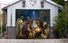 Jesus Christmas Single Garage Door Cover Full Color Nativity Scene Decor GD199