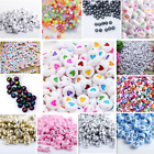 NEW 200 1000pcs 7mm Mixed A Z Alphabet Letter Acrylic Spacer Beads heart bead