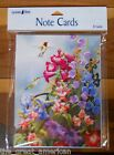 8 Leanin Tree Note Cards Hummingbirds w Colorful Flowers Susan Bourdet Made USA