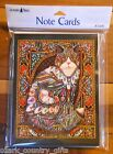 8 Leanin Tree Note Cards COLORFUL MOSAIC CAT by Lewis T Johnson Made in USA
