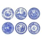 Spode Blue Room Georgian Plates Set of 6 Assorted Motifs