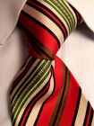 Mens Gucci Red Striped Silk Tie Vintage A28429
