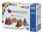 NEW Magna Tiles Clear Colors 100 Pc 3D Set Magnetic Building Toy Math Science 3+