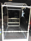 Vintage Ethan Allen Twin Wood Canopy Bed Frame - from 1970's VG