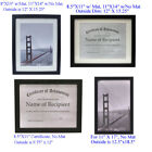 Choice of Different Size Picture Frames Diploma Certificate Document Frames