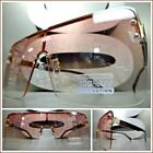 Oversized Exaggerated Vintage Retro Style SUN GLASSES Rose Gold Frame Pink Lens