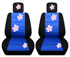 Vw Beetle Front Car Seat Cover Blackblue Wdaisyladybughibiscusbutterfly..