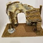 OPEN NATIVITY CHRISTMAS MANGER CRECHE STABLE ONLY STONE WALL WELL