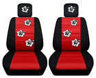 Vw Beetle Front Car Seat Covers Blackred Wdaisyladybugbutterfly...