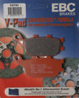 EBC Brake Pads for V-Series Fits 2007 Kawasaki Z 1000 Disc Brake Pad Set, Fa174V