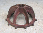 ANTIQUE CAST IRON GEAR STAND BASE VINTAGE COFFEE TABLE stool FARM legs steampunk