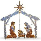 72 Nativity Scene Christmas Lights Yard Sculpture Holiday Decorations Display
