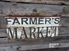 *FARMERS MARKET*PRIMITIVE*RUSTIC CHIC*FARM DECOR*ADVERTISING SIGN*NEW*COUNTRY*