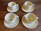 Homer Laughlin Fiesta Pale Yellow Tea Coffee Cup & Saucer 4 sets / 8 pieces