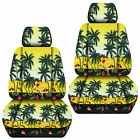 Vw Beetle Front Car Seat Covers Hawaii Flower Pam Tree Blueredyellow...