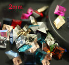 50p 2mm square Pointback Crystal glass rhinestone Nail Art decoration DIY jewels